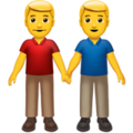 Men Holding Hands on Apple iOS 13.1