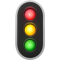 Vertical Traffic Light on Apple iOS 13.1