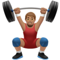 Person Lifting Weights: Medium Skin Tone on Apple iOS 13.1