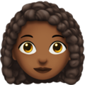 Woman: Medium-Dark Skin Tone, Curly Hair on Apple iOS 13.1