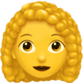 Woman: Curly Hair on Apple iOS 13.1