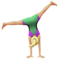 Woman Cartwheeling: Medium-Light Skin Tone on Apple iOS 13.1