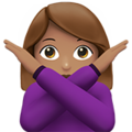 Woman Gesturing No: Medium Skin Tone on Apple iOS 13.1