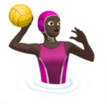 Woman Playing Water Polo: Dark Skin Tone on Apple iOS 13.1