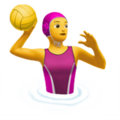 Woman Playing Water Polo on Apple iOS 13.1