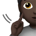 Deaf Person: Dark Skin Tone on Apple iOS 13.2