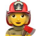 Woman Firefighter on Apple iOS 13.2