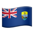 Flag: Ascension Island on Apple iOS 13.2