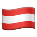 Flag: Austria on Apple iOS 13.2