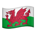 Flag: Wales on Apple iOS 13.2