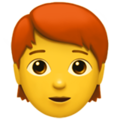 Person: Red Hair on Apple iOS 13.2