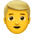 Man: Blond Hair on Apple iOS 13.3