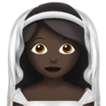 Person With Veil: Dark Skin Tone on Apple iOS 13.3