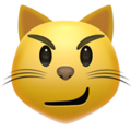 Cat with Wry Smile on Apple iOS 13.3