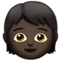 Child: Dark Skin Tone on Apple iOS 13.3