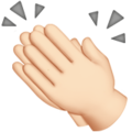 Clapping Hands: Light Skin Tone on Apple iOS 13.3