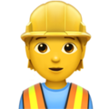 Construction Worker on Apple iOS 13.3