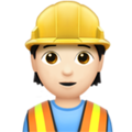 Construction Worker: Light Skin Tone on Apple iOS 13.3
