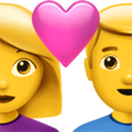 Couple with Heart: Woman, Man on Apple iOS 13.3