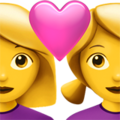Couple with Heart: Woman, Woman on Apple iOS 13.3