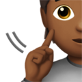 Deaf Person: Medium-Dark Skin Tone on Apple iOS 13.3