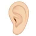 Ear: Light Skin Tone on Apple iOS 13.3