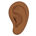 Ear: Medium-Dark Skin Tone on Apple iOS 13.3