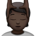 Person Getting Massage: Dark Skin Tone on Apple iOS 13.3