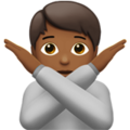 Person Gesturing No: Medium-Dark Skin Tone on Apple iOS 13.3