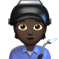 Factory Worker: Dark Skin Tone on Apple iOS 13.3
