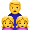 Family: Man, Girl, Girl on Apple iOS 13.3