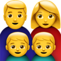 Family: Man, Woman, Boy, Boy on Apple iOS 13.3