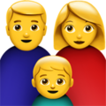 Family: Man, Woman, Boy on Apple iOS 13.3