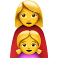 Family: Woman, Girl on Apple iOS 13.3