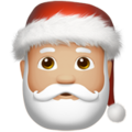 Santa Claus: Medium-Light Skin Tone on Apple iOS 13.3