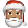 Santa Claus: Medium Skin Tone on Apple iOS 13.3