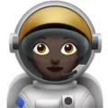 Woman Astronaut: Dark Skin Tone on Apple iOS 13.3