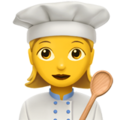 Woman Cook on Apple iOS 13.3