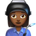 Woman Factory Worker: Medium-Dark Skin Tone on Apple iOS 13.3
