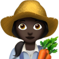 Woman Farmer: Dark Skin Tone on Apple iOS 13.3