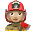Woman Firefighter: Medium-Light Skin Tone on Apple iOS 13.3