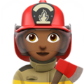 Woman Firefighter: Medium-Dark Skin Tone on Apple iOS 13.3