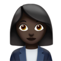 Woman Office Worker: Dark Skin Tone on Apple iOS 13.3