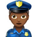 Woman Police Officer: Medium-Dark Skin Tone on Apple iOS 13.3