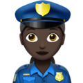 Woman Police Officer: Dark Skin Tone on Apple iOS 13.3
