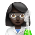 Woman Scientist: Dark Skin Tone on Apple iOS 13.3