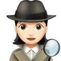 Woman Detective: Light Skin Tone on Apple iOS 13.3
