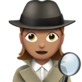 Woman Detective: Medium Skin Tone on Apple iOS 13.3