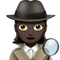 Woman Detective: Dark Skin Tone on Apple iOS 13.3