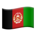 Flag: Afghanistan on Apple iOS 13.3